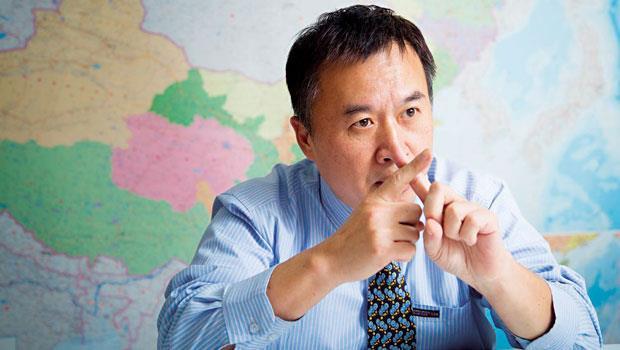 富堡董事林峻樟為了打下海外江山,辦公室裡特地掛著亞洲地圖,經常在RCEP成員國趴趴走。