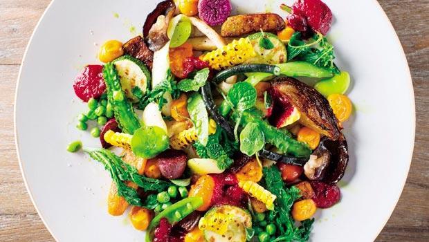 「大地之味」視覺、味覺皆精彩,像是各種蔬菜共生在美麗的庭園裡。