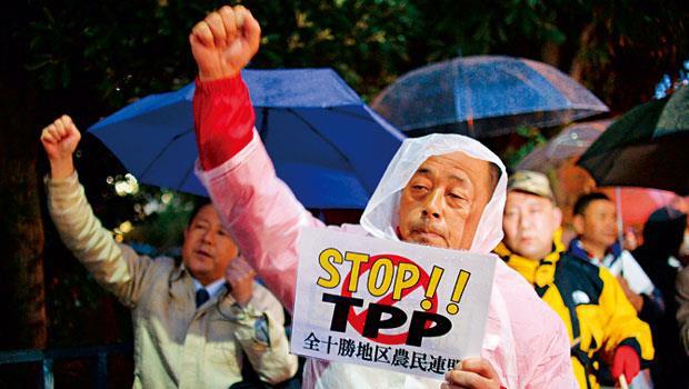 去年4月歐巴馬訪日,日本農民上街反對TPP。不到一年,情勢轉變,日、美即將達成協議。