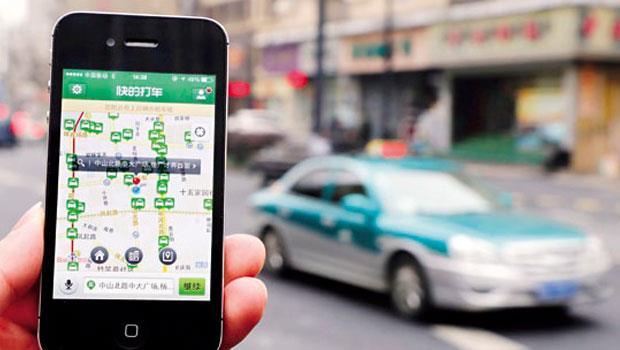 中國近7成計程車司機透過「快的」接單,每10位乘客就有6人以此叫車。
