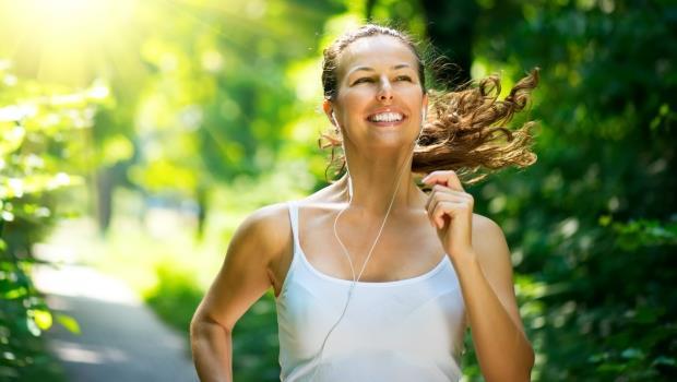 女性希望跑步勵志