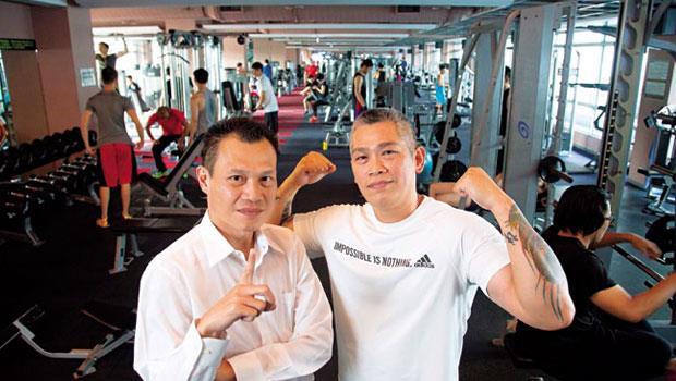 健身工廠執行長陳尚義(左)、總經理:陳尚文(右)