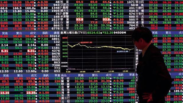 股災蔓延,台股開盤大跌200點