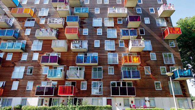荷蘭建築設計團隊 MVRDV所設計的老人公寓 Wozoco