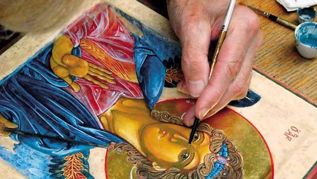 王子的學校,做的是幾世紀前的彩繪玻璃、馬賽克、波斯繪畫。