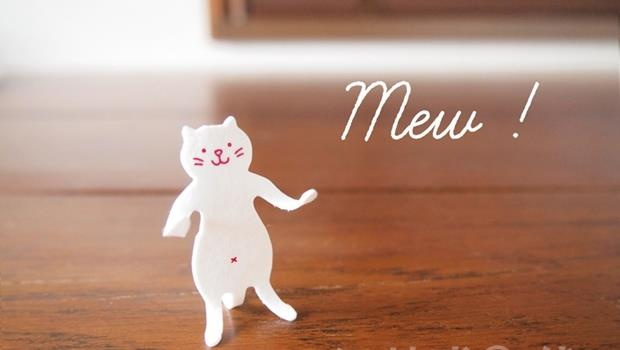 文具控看過來!這款紙製「貓咪迴紋針」,泡水後就能變公仔擺POSE