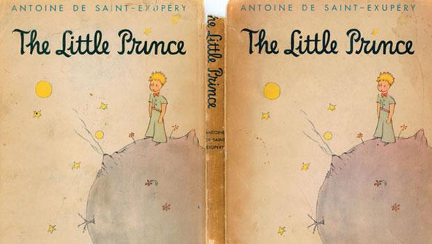 1943年,當時流亡美國的聖修伯里於紐約完成《小王子》一書,率先在美國以法文和英文出版(圖為首刷本)。
