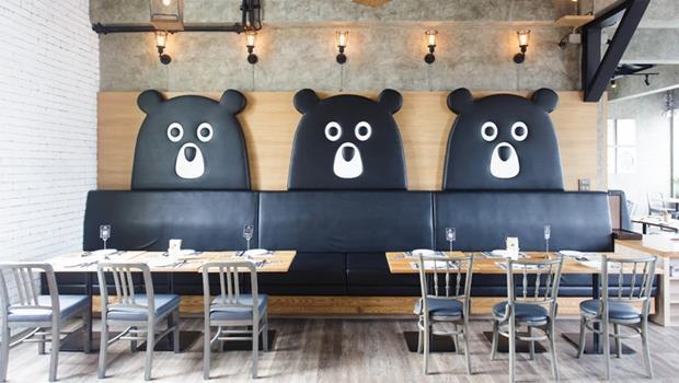 泰國也有泰迪熊餐廳!看不到任何絨毛玩偶,「熊影」卻可以無所不在