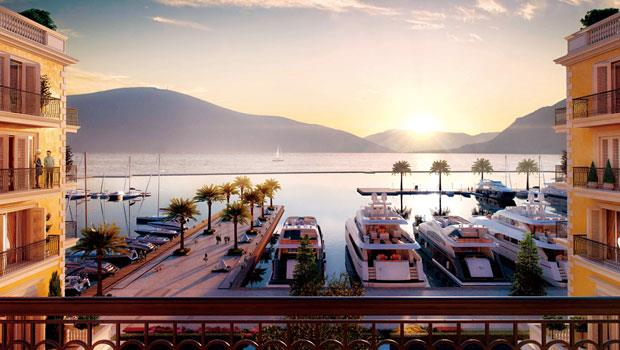 黑山港麗晶酒店面向被聯合國教科文組織列為世界遺產的科托爾灣。007系列電影《皇家夜總會》曾在此取景。