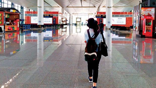 瀋陽的桃仙機場絕大多數都是要到台灣旅遊的東北老鄉。