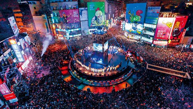 嘉義市財政與城市行銷兼顧,幾年前取得國際管樂節主辦權,部分經費來自中央,圖為當年現場盛況。