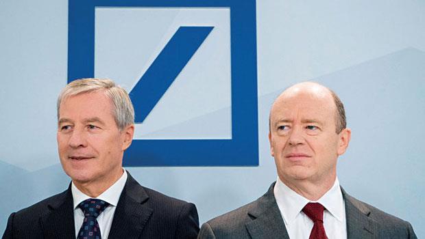隨著費斯臣(左)將去職,克萊恩(右)將成唯一執行長,德銀「雙執行長制」也走入歷史成絕響。