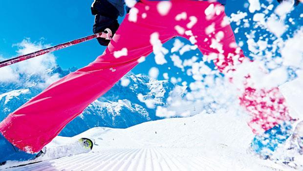 冬天瘋滑雪