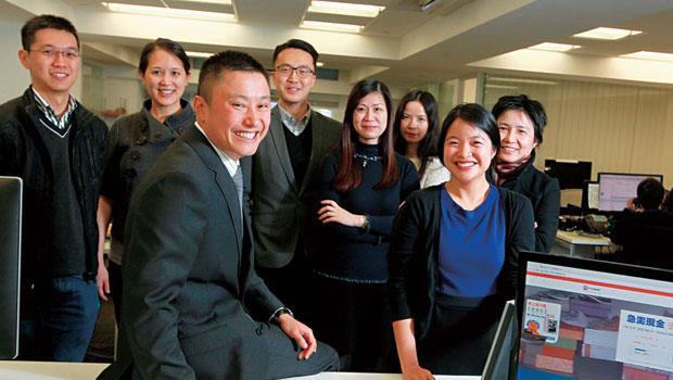 網路借貸平台「我來貸(WeLab)」創辦人龍沛智(圖前排)