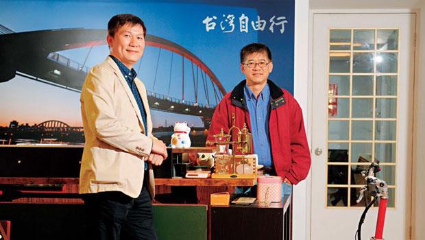 陸客來台自由行最大旅遊網路平台 台灣自由行,左為董事長江志祥,右為創辦人陳國柱