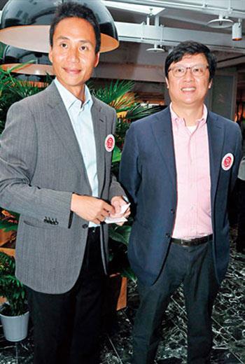 國賓飯店總經理李昌霖( 右),和從母姓的哥哥仰德集團掌門人許育瑞( 左),肩負老字號轉型重任。