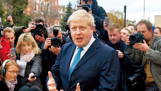 強森年輕時大半時間都在歐陸度過,如今卻 支持英國退歐被譏為立場反覆。