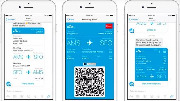 臉書Messenger越來越強大!可以叫車、支付,現在連登機都做到了