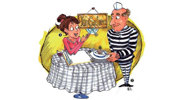 餐廳「在獄中」(InGalera),去年底在博拉泰(Bollate)監獄一樓開幕
