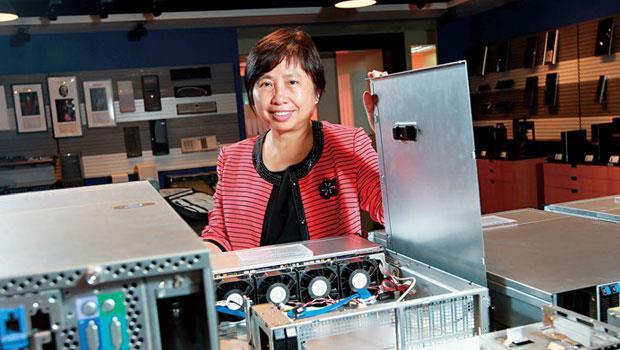 勤誠的市占率估約8.3%,是全球出貨量最大的伺服器機殼廠,董事長陳美琪因而被封為「機殼一姊」。