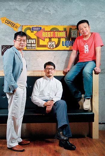 由左至右分別為:之初創投合夥人 詹德弘、CNEX董事長兼共同創辦人 蔣顯斌 及EZTABLE共同創辦人兼執行長 陳翰林