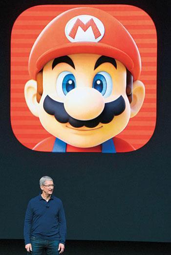 庫克( 圖) 讓任天堂和寶可夢開發商Niantic 在蘋果發表會講了十幾分鐘,展現他對軟體的重視。