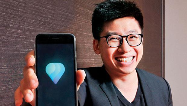 拍拖創辦人兼執行長潘杰賢透過自家產品認識來自台灣的老婆,成了最佳代言人。