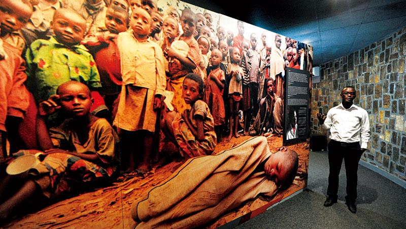 大屠殺紀念館展示這場因族群衝突而起的血腥歷史。