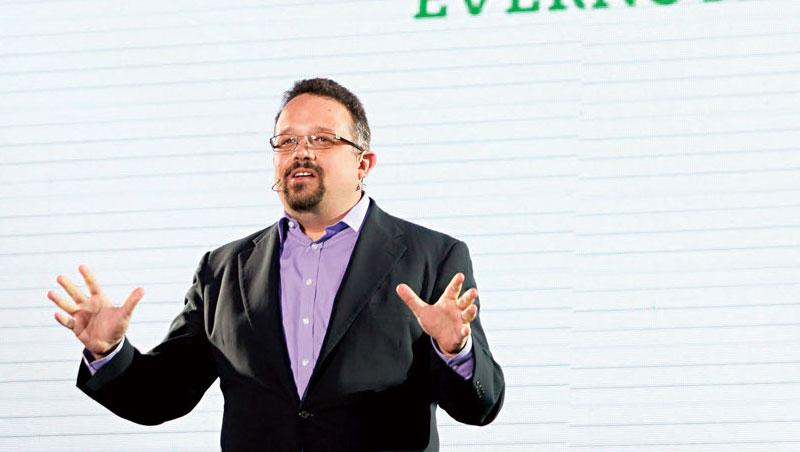 Evernote 空有免費會員卻無法轉成金流,讓前任執行長Phil Libin(圖)去年黯然下台。