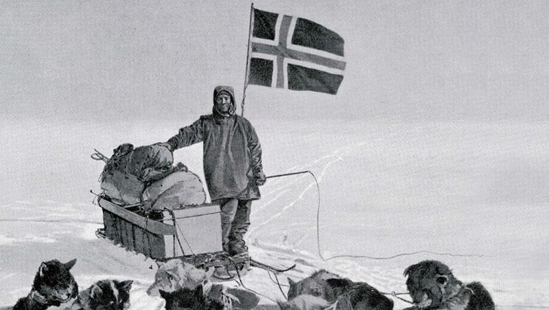 多虧了愛斯基摩人在北極的生活智慧,挪威人艾蒙森得以成為第一位成功抵達南極點的探險家。