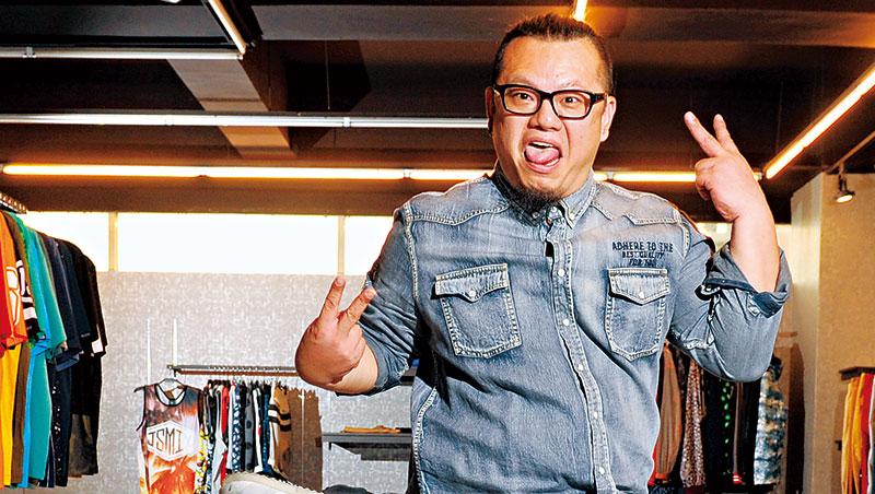 郭祥毅指出,大尺碼男裝設計有很多眉角,如視覺焦點不會落在肚子上,而是肩膀或手臂。