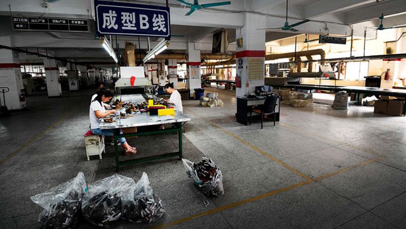 中國大查稅,讓不少台商萌生退場念頭。圖為台商工廠示意圖。