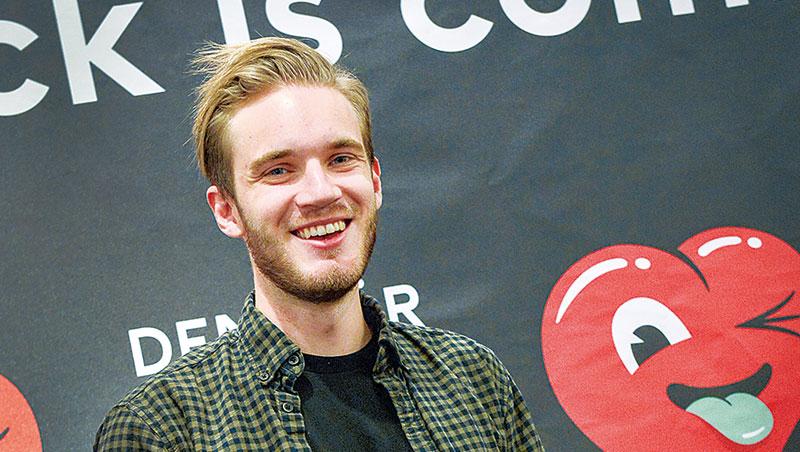 Maker Studios旗下網紅6 萬多名,每月YouTube 點擊超過110 億次,簽下全球最大咖網紅皮迪派(圖中)。
