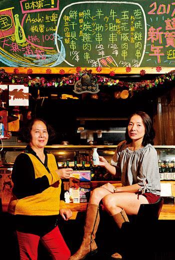 大月和食料理創辦人 李鈴(右)