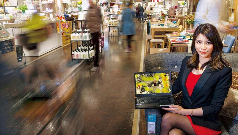 謝凱蒂,SkyREC創辦人之一2013年創立以來雨Timberland、HOLA等品牌合作,系統布建600家店面,提升客流量和營業額20%~25%