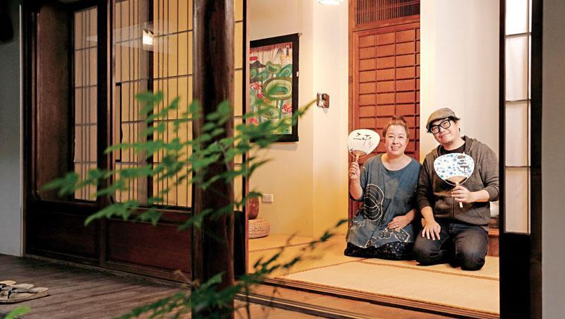 三平咖啡的日式中庭,蒐藏了楊文正對太太的愛,以及上野壽江對家鄉的思念。