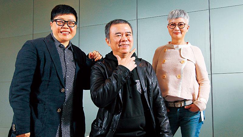 葉如芬(左起)、陳玉勳和李烈繼創下3 億票房《總舖師》後,再度合作拍片。