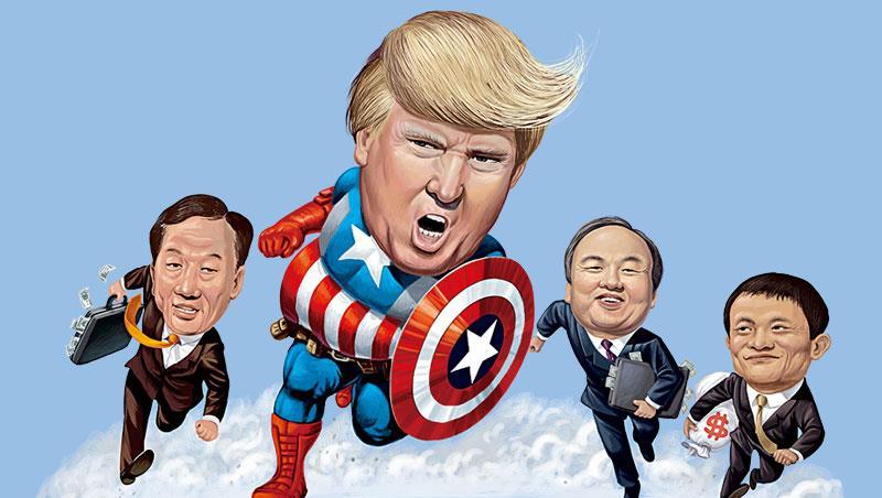川普還沒真正進駐白宮,就拿到了比在職總統還要多的「進貢」,吸引美、中、日、韓知名企業輸誠,承諾赴美設廠、提供就業機會。