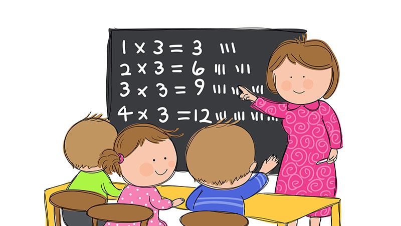 0.999×0.45__0.45,該填><=?不要背「乘比1小的數字會變小」,怎麼教讓小孩愛上數學
