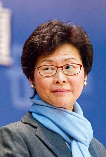 新當選的香港行政長官 林鄭月娥