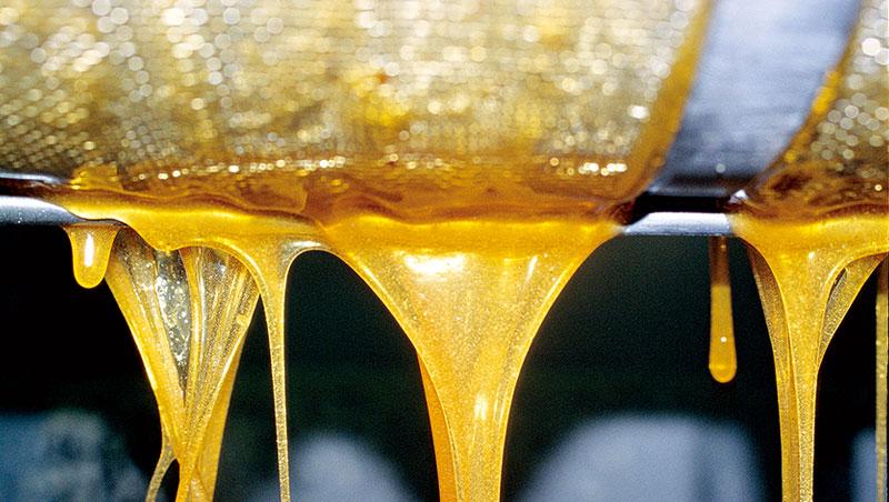 一般市面上蜂蜜,是由「搖蜜機」離心搖出再罐裝的產品,搖出的蜂蜜可能帶雜質須經初級過濾。