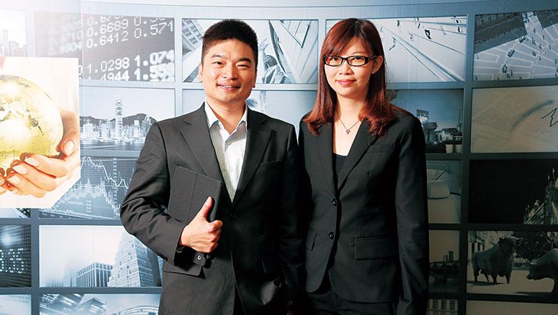 安聯廖哲宏(左)、蕭惠中(右)