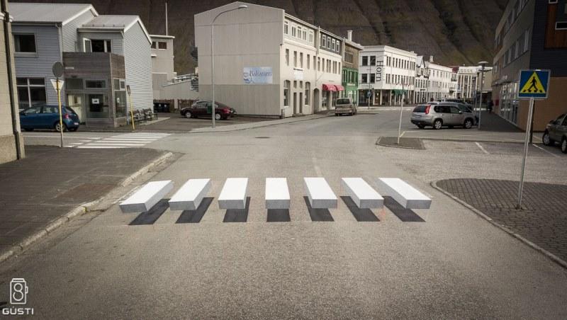 改善交通的新技術:「懸空斑馬線」讓駕駛看到自動減速,行人過馬路像「空中漫步」