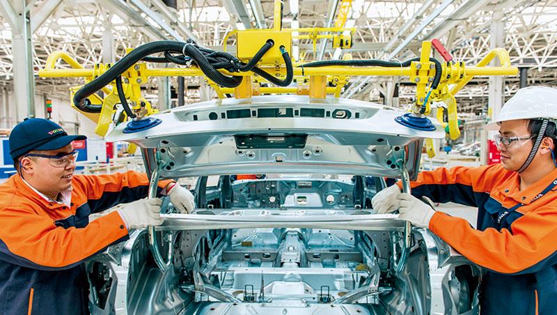 豪華車品牌Volvo中國成都廠因設備和品質提升,生產的休旅車不只內銷中國,還出口到美國。