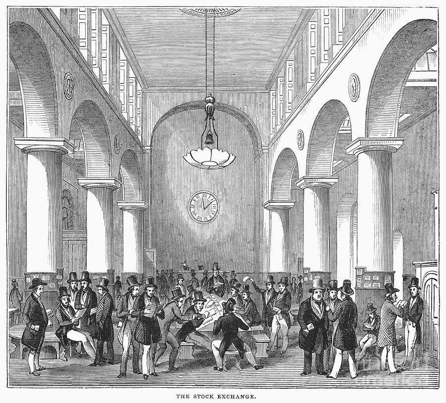 19 世紀的倫敦證券交易所 (傳統英國人的活動中心)