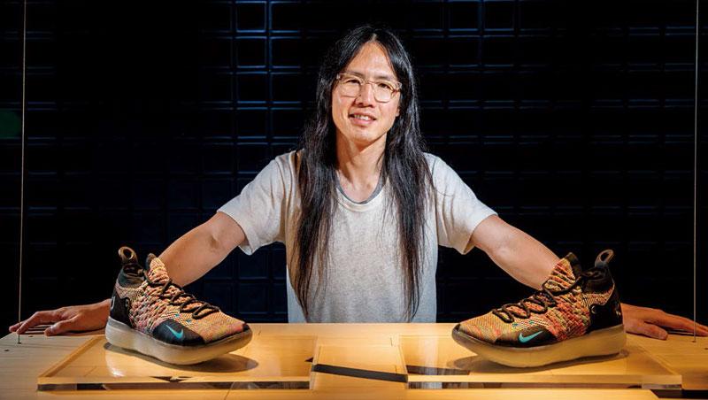 張傳禧操刀設計的杜蘭特專屬球鞋,已發行至第11代(圖)。他認為設計是在藝術、製造與商業取得平衡,這也讓他從天才聚集的設計部門脫穎而出。