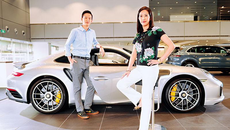 高志尚女兒高易誼(右)和勤益紡織二代顧立楷(左)跨界賣豪華車,有富爸爸撐腰,一出手就是業界之最。