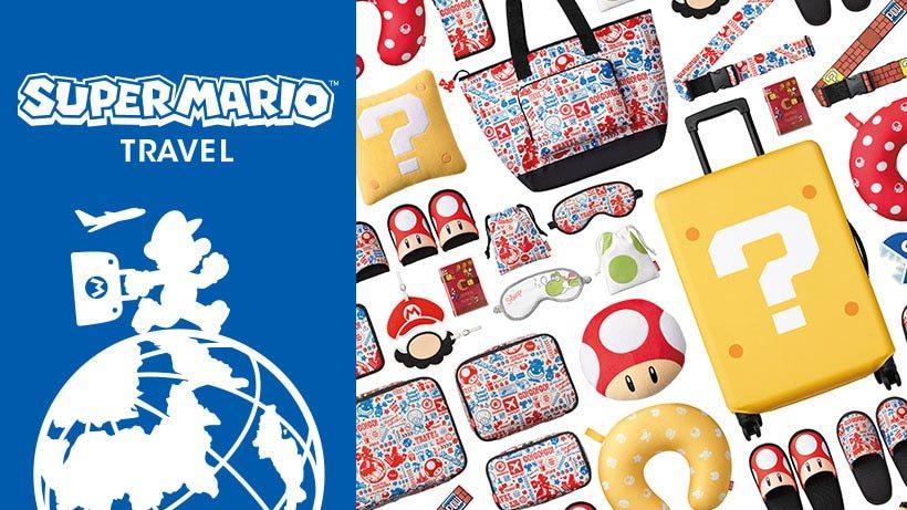 飛機頸枕、眼罩、行李吊牌... 繼Switch後任天堂又發威!「超級馬莉歐」旅行用品大公開