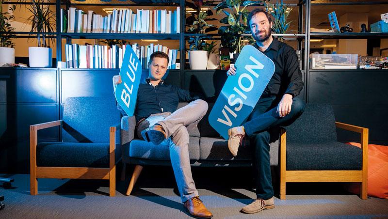 藍色視覺實驗室聯合創始人兼首席執行官:彼得.昂多斯卡(圖左)、藍色視覺實驗室聯合創始人兼技術長:盧卡斯.普拉汀斯基(圖右)