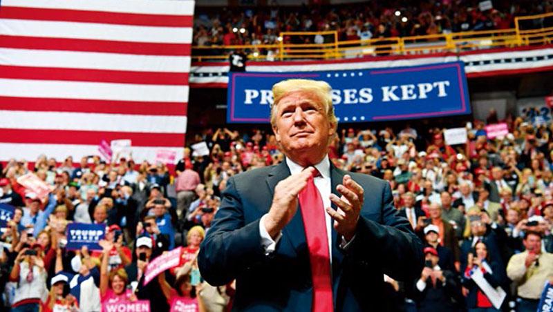 「共和黨製造就業機會,民主黨製造暴民。」川普輔選不改嘴炮本色,選後美國將有更多不確定。